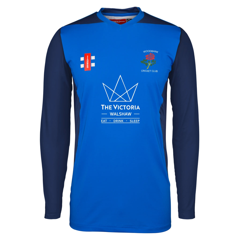 Woodbank CC Gray Nicolls Pro Performance LS Shirt (Royal/Navy)