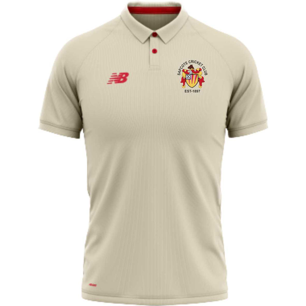 Sapcote CC New Balance SS Cricket Shirt (Angora)