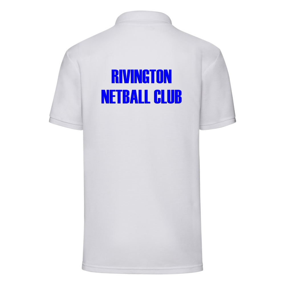 Rivington Netball Club Polo (White)