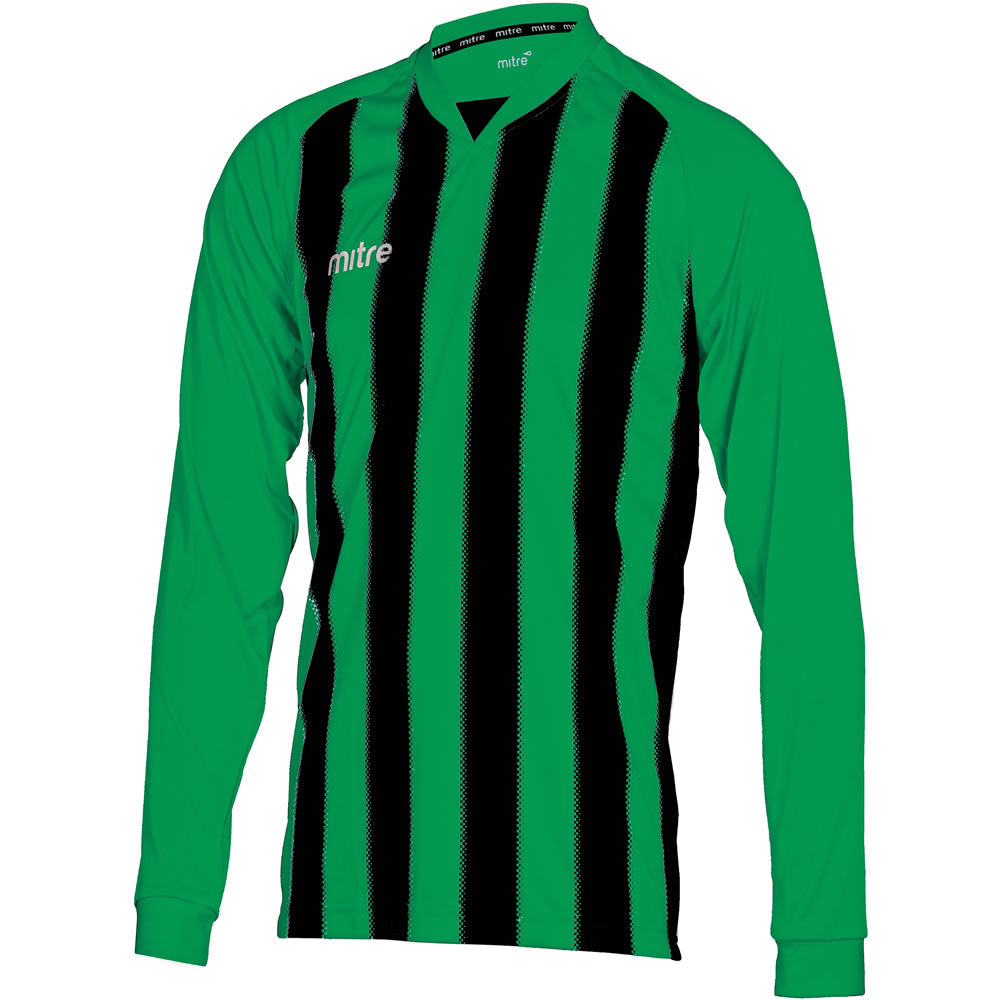 Mitre Optimize LS Football Shirt (Emerald/Black)