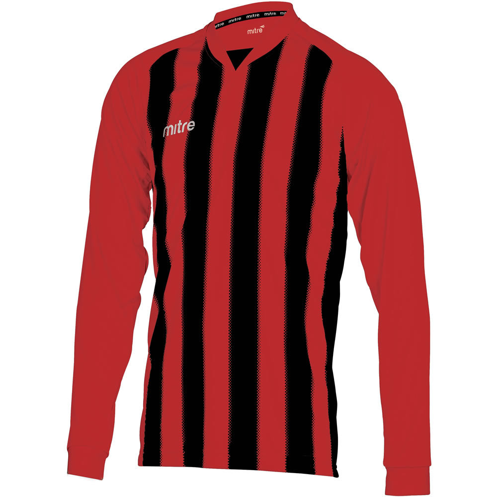 Mitre Optimize LS Football Shirt (Scarlet/Black)
