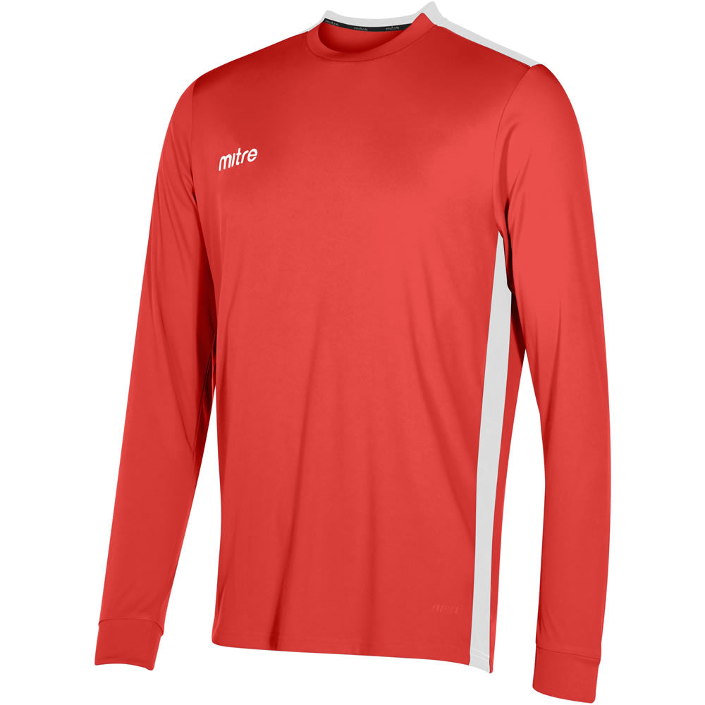 Mitre Charge LS Football Shirt (Scarlet/White)