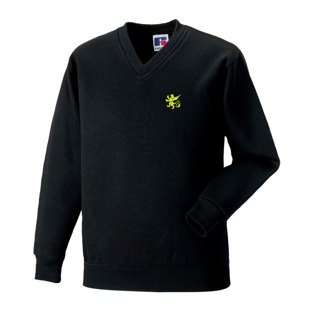 Turton School Year 11 V-Neck Sweater (Black)