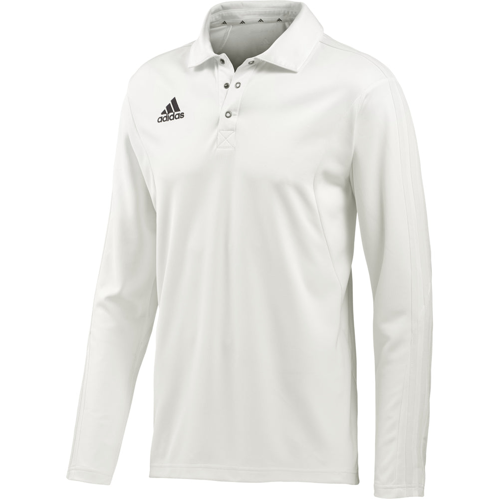 Adidas Long Sleeve Cricket Shirt (Chalk/Chalk)