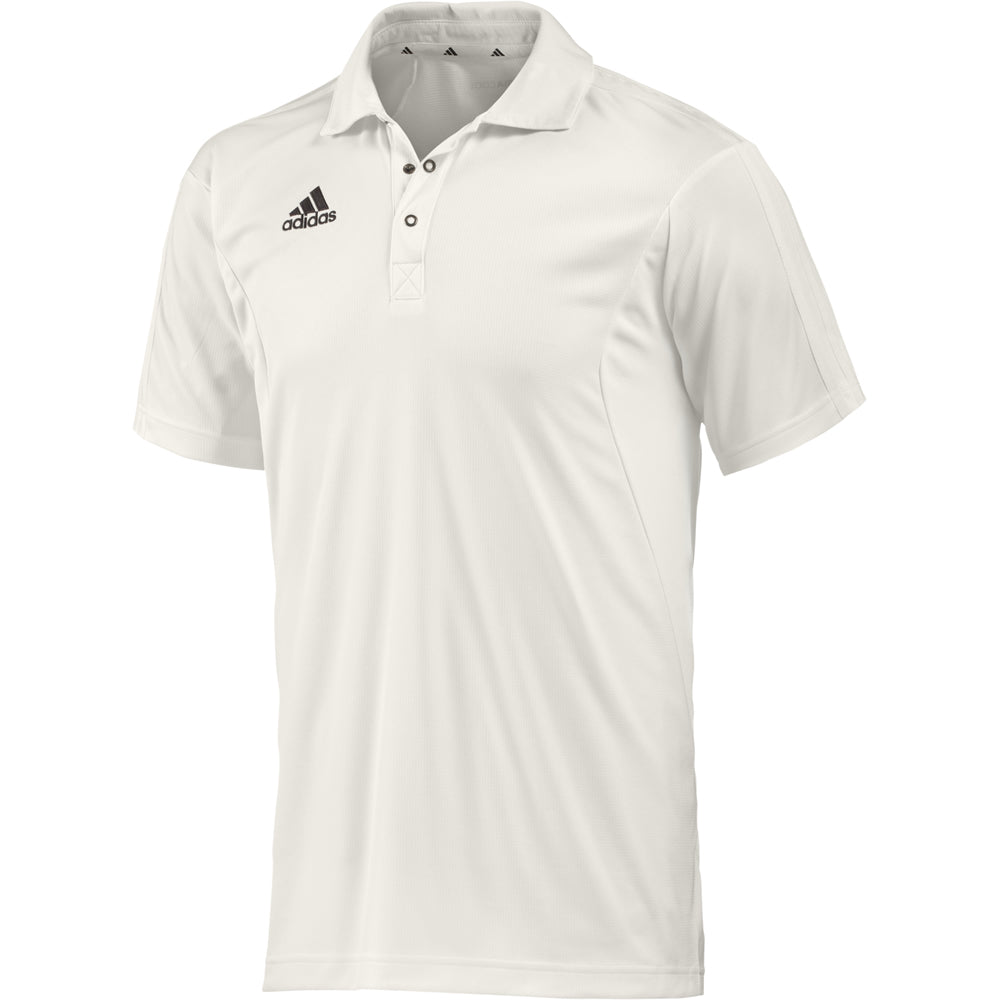 Adidas Short Sleeve Cricket Shirt (Chalk/Chalk)