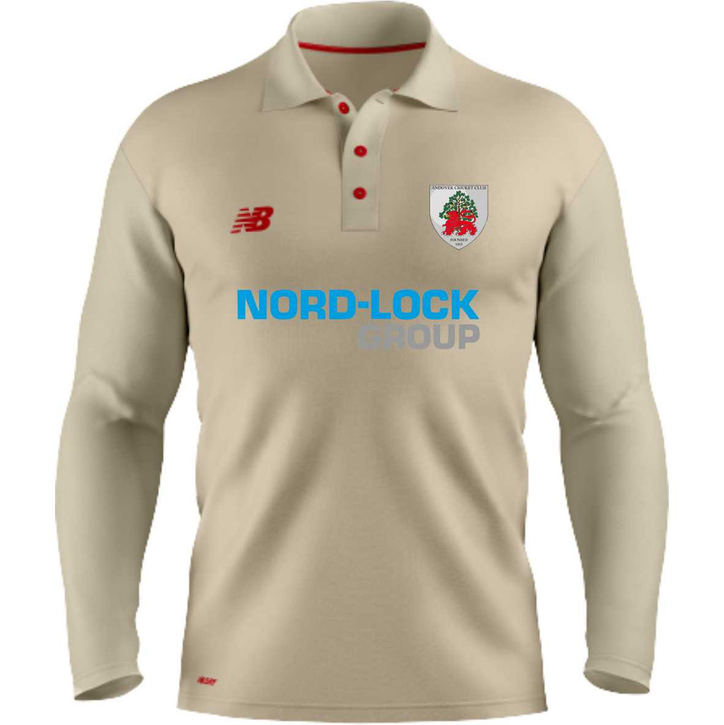 Andover CC New Balance LS Cricket Shirt (Angora)
