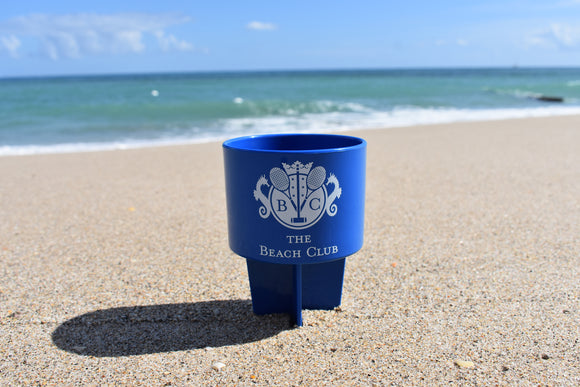 Cup Holder Stand with BC Logo in Blue/White