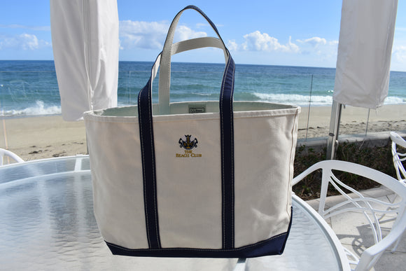 LL BEAN Large Canvas Beach Bag with BC Logo