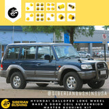Siberian Bushing 3-30-S900082 Master Suspension Bushing Kit HYUNDAI GALLOPER LONG WHEEL BASE 5 DOORS COIL SUSPENSION 2000-2003