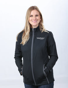 Sport-Tek Ladies Sport Wick Stretch Contrast Full-Zip Jacket