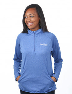 Sport-Tek Ladies Sport Wick Stretch 1/2 Zip Pullover