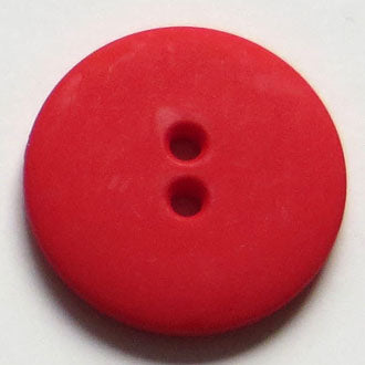 23mm 2-Hole Round Button - red