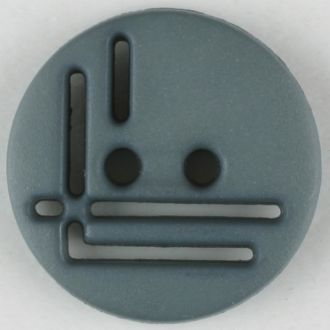 14mm 2-Hole Round Button - gray