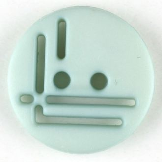 14mm 2-Hole Round Button - light blue-green
