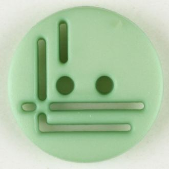 14mm 2-Hole Round Button - light green