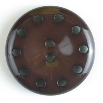 38mm 10-Hole Round Button - brown