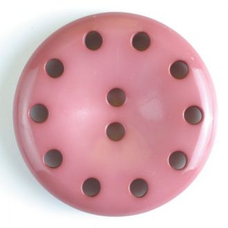 38mm 10-Hole Round Button - pink
