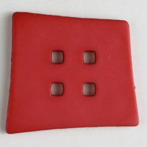 55mm 4-Hole Square Button - red