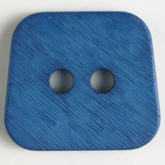 30mm 2-Hole Square Button - blue