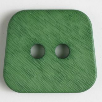 30mm 2-Hole Square Button - green