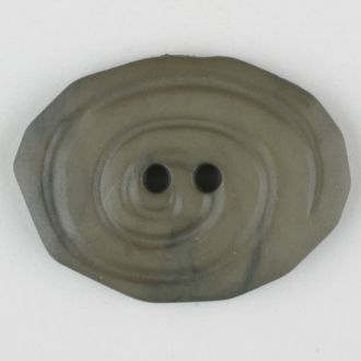 30mm 2-Hole Oval Button - gray-brown