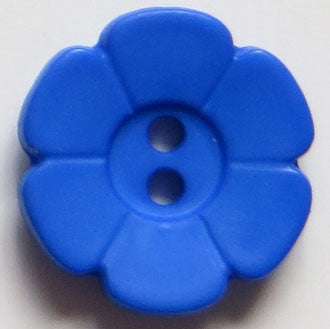 28mm 2-Hole Flower Button - bright blue