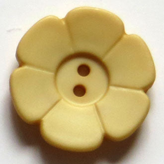 28mm 2-Hole Flower Button - yellow