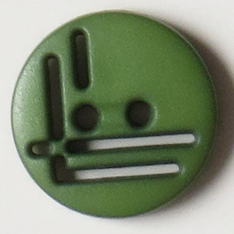 14mm 2-Hole Round Button - green