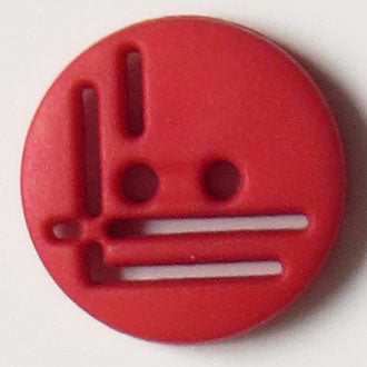14mm 2-Hole Round Button - red