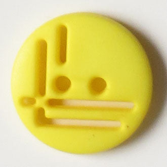 14mm 2-Hole Round Button - yellow