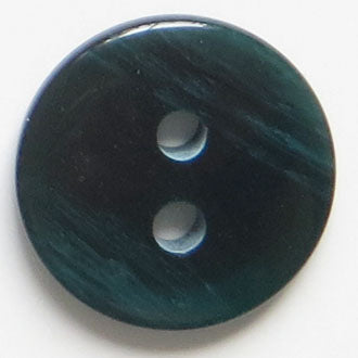 23mm 2-Hole Round Button - blue-green