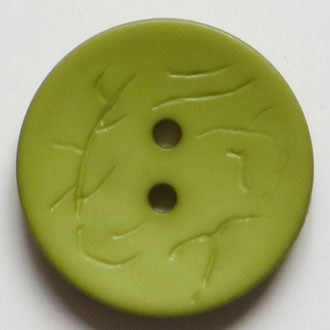23mm 2-Hole Round Button - green