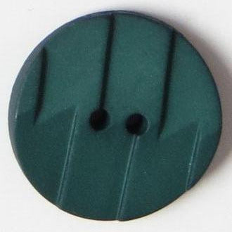 28mm 2-Hole Round Button - dark green