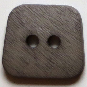 30mm 2-Hole Square Button - brown