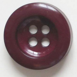 34mm 4-Hole Round Button - burgundy