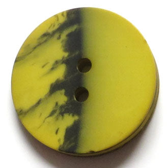 28mm 2-Hole Round Button - yellow-green