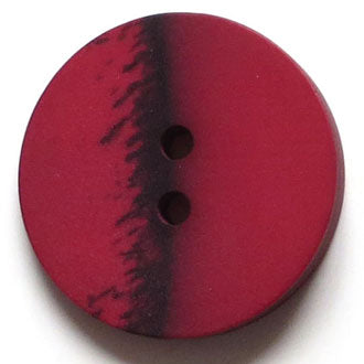 28mm 2-Hole Round Button - dark red