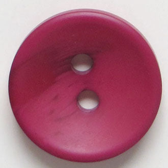 34mm 2-Hole Round Button - red