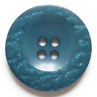 38mm 4-Hole Round Button - blue-green