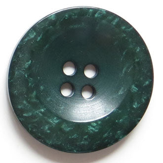 38mm 4-Hole Round Button - green