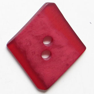 45mm 2-Hole Diamond Button - red translucent