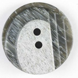25mm 2-Hole Round Button - two-tone gray