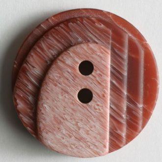 23mm 2-Hole Round Button - red two-tone