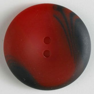 38mm 2-Hole Round Button - red