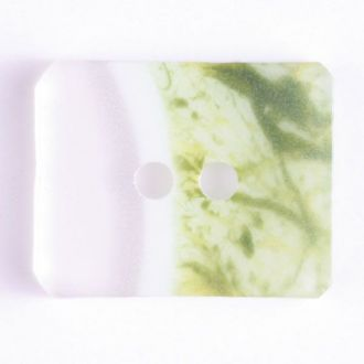 34mm 2-Hole Rectangular Button - green translucent