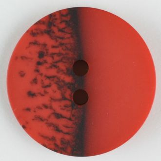 28mm 2-Hole Round Button - red