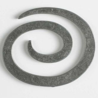 50mm Spiral Closure - antique tin