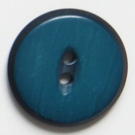28mm 2-Hole Round Button - green