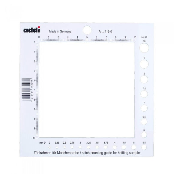 Addi Stitch Gauge