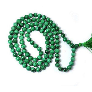 Genuine Malachite Mala Beads Necklace - prayer beads for meditation-OMSutra-Malachite Beads Mala-voicenatural